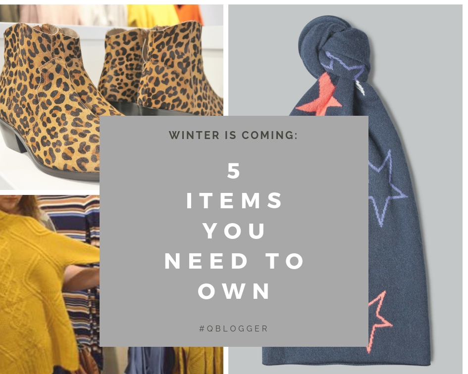 5 Winter Wardrobe Must Haves – #Qblogger