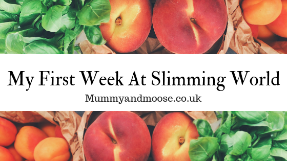 My first week at Slimming World
