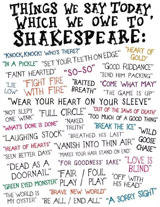 shakespeare phrases and words